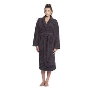 Barefoot Dreams CozyChic Robe in Black Size 2 Long
